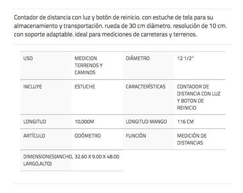 distanciometro distometro manual odometro surtek - - 122271