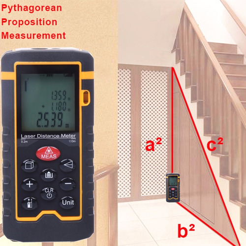 distanciometro laser area volumen distancia 100 mts mimall