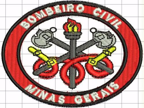 distintivo bordado bombeiro civil ii