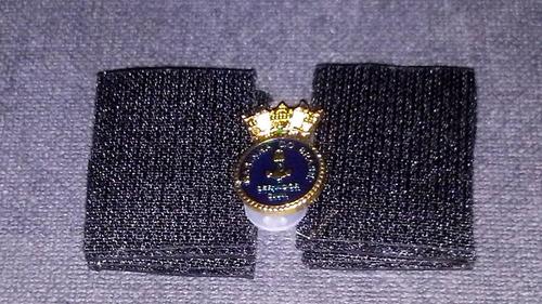 distintivo de metal dourado servidor civil da marinha