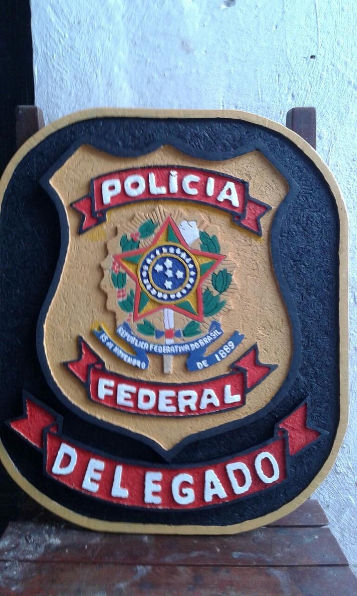 Distintivo Entalhado Delegado De Policia Federal - R$ 150 ...