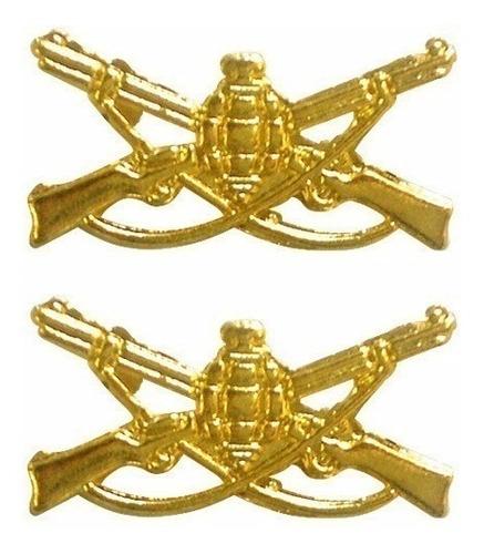 distintivo metal infantaria (par)