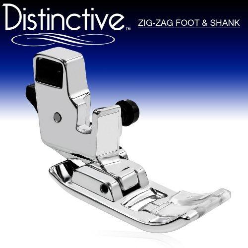 distintivo zig zag \ a\  o \ j\  la máquina de coser prensa
