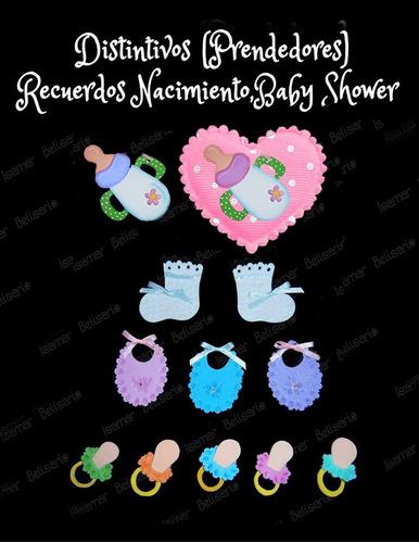 distintivos,recuerdos nacimiento,baby shower foami apliques