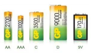 distribución de cargadores gp aa y aaa y bateria recargable