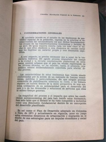 distribución espacial de la población en colombia. cardona