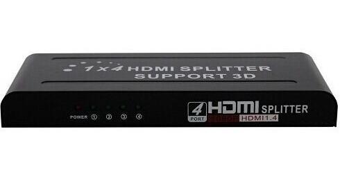 distribuidor hdmi splitter com 1 entrada 4 saidas 1x4 hd 3d