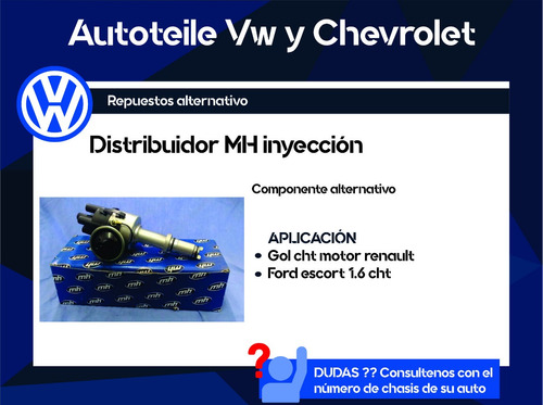 distribuidor mh inyeccion gol cht, ford escort