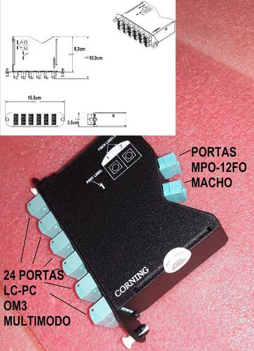 distribuidor optico mpo-12fo-m lc-pc om3 24 fibras dio/dgo