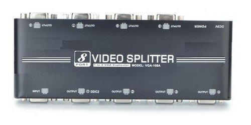 distribuidor splitter vga 8 portas 1x8 550 mhz até 65 metros