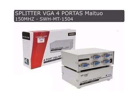 distribuidor video vga splitter divisor 4 sinal monitor