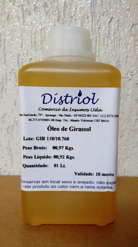 distriol - 01 lt oleo mamona ou ricino original com laudo