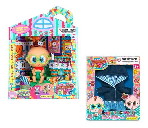 distroller muñeco churro + ropa de regalo