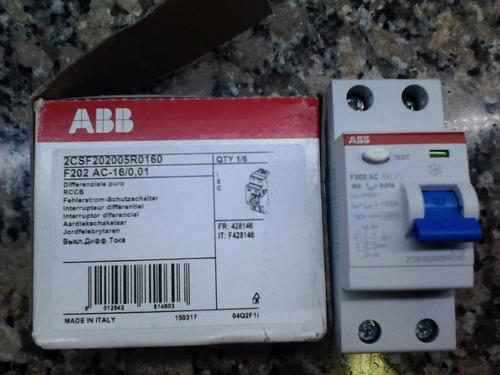 disyuntor diferencial 2x16a 10ma abb para hidromasaje