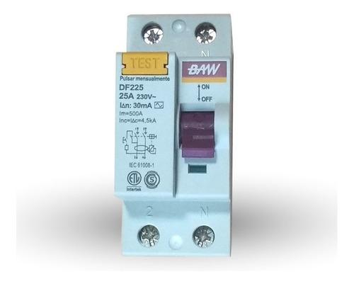 disyuntor diferencial 2x25a - baw - tofema