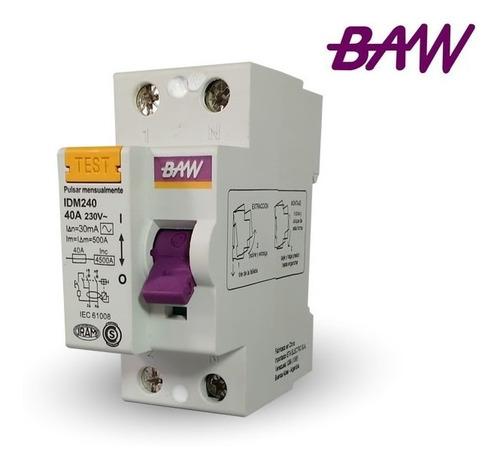 disyuntor diferencial 2x40a  baw - tofema