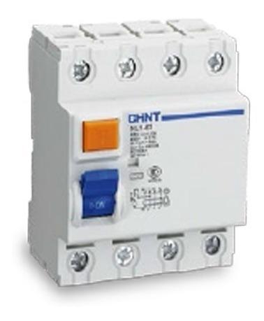 disyuntor diferencial tetrapolar 25-40-63a amp chint 6ka db
