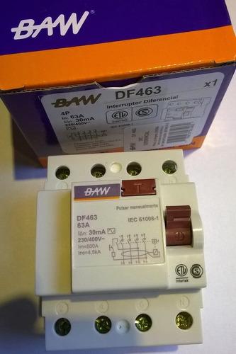 disyuntor diferencial tetrapolar 4x63 63a