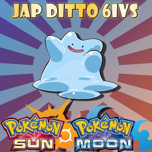 ditto shiny jap 6iv pokémon xy, oras, sun e moon