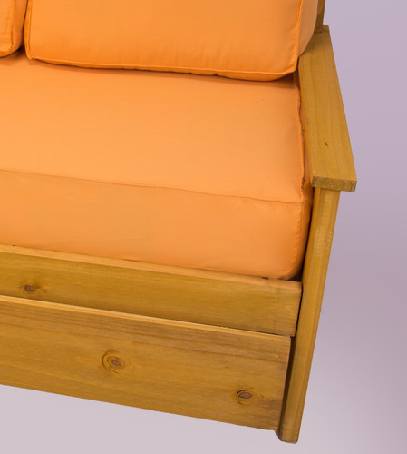 divan cama + carro + colchon + funda + 4 almohadon eco cuero