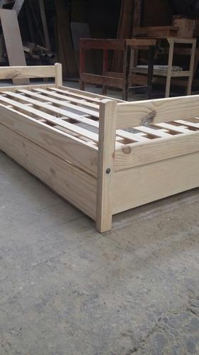 divan cama con carrocama - 100% madera cipres sin lustre