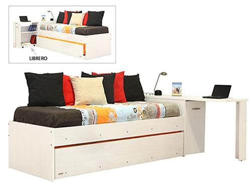 diván cama con escritorio platinum® mod. 9560 - envío gratis