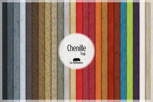 divan cama tapizado en chenille! varios colores la sillonera