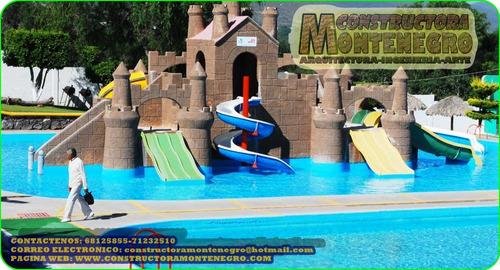 diversion acuatica con piscinas modernas