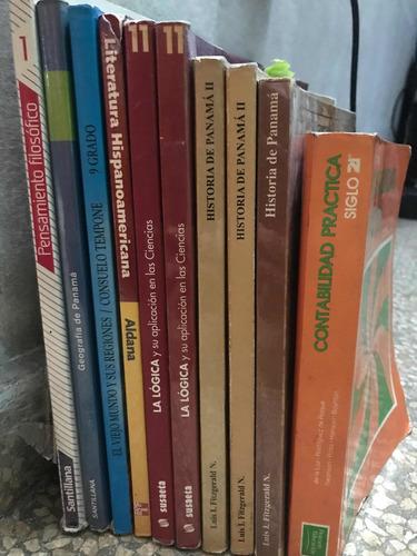 diversos libros de escuela