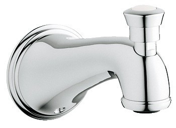 diverter tub spout, llenado tina geneva grohe cromo 13610000