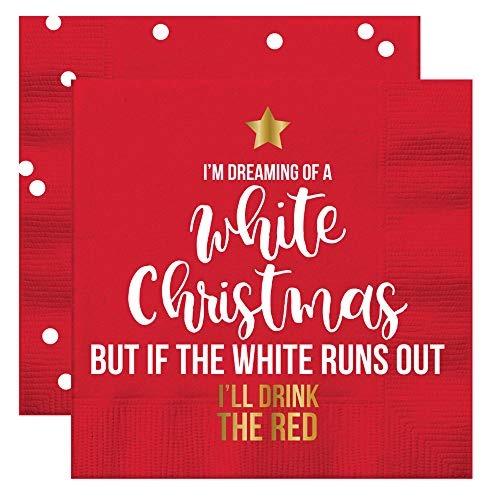 Frases Divertidas Sobre Navidad.Divertidas Servilletas De Coctel De Navidad Frases De Vino P
