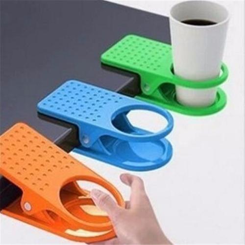divertido clip porta vasos, varios colores.