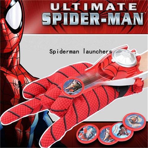 divertido guante lanza discos de spiderman