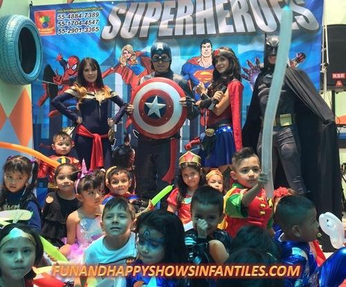 divertido show de super heroes en cdmx y edomex! promoción