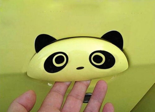 divertido sticker de oso panda para autos y camionetas x2