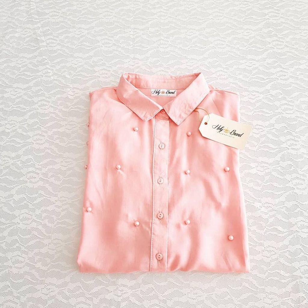 d3efa8ce9b divina camisa con perlas mangas largas. Cargando zoom.