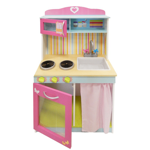 Divina cocina infantil de madera 60x30x100 cm hay de for Cocina infantil madera