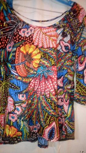 divina remera con mangas mariposa. oferta