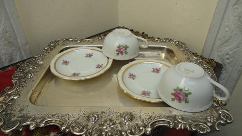 divina taza cafe porcelana alemana antigua rococo veala