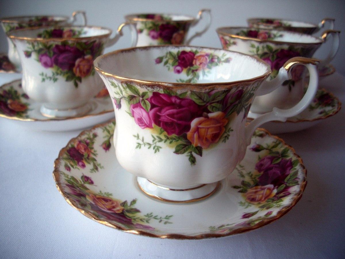 Divina taza y plato de t porcelana inglesa royal albert for Tazas de te inglesas
