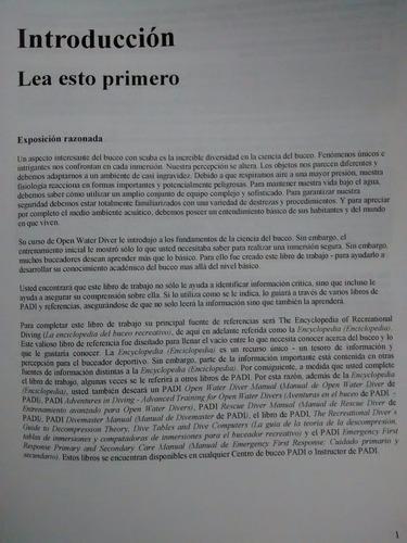diving knowledge workbook buceo recreativo