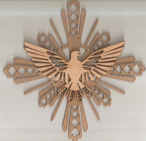 divino espirito santo 80cm n°3 mdf