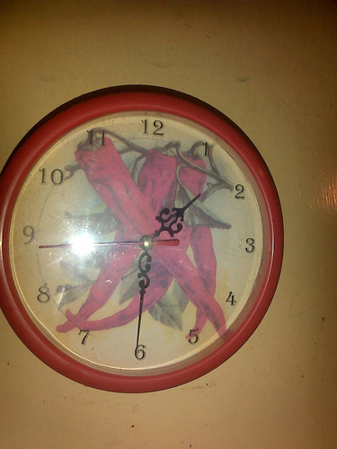 Divino reloj d pared con dise o d aji para decorar tu - Reloj cocina diseno ...
