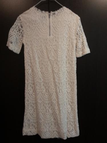 divino vestido de encaje forrado h&m nuevo!