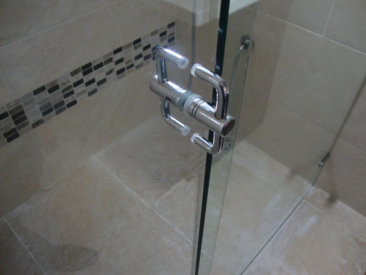 Divisi n para ba o en vidrio templado damos asesoria for Manijas para puertas de vidrio