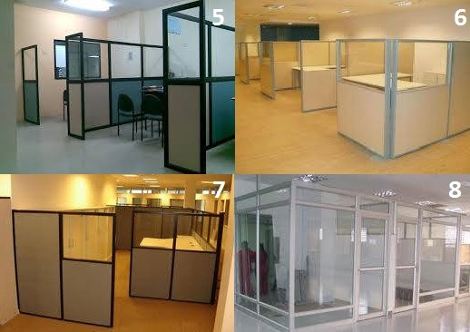 Divisiones de oficinas cerramientos tabiques divisorios for Divisiones de oficina