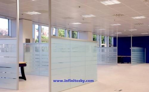divisiones en vidrio diseño de puestos de trabajo