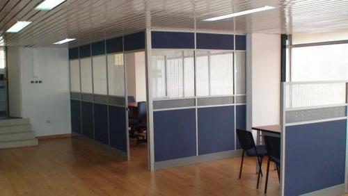 Divisiones oficina tipo call basic en aluminio y melamina for Divisiones para oficina