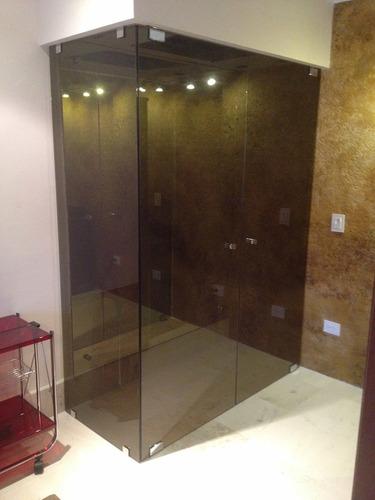 divisiones para baño en vidrio templado