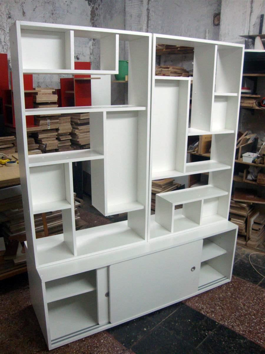 Divisor ambient minimalista baulera biblioteca - Muebles separador de ambientes ...